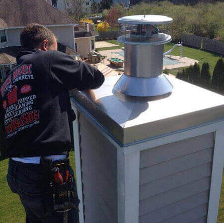 Chimney Chase Cover Repair Long Island