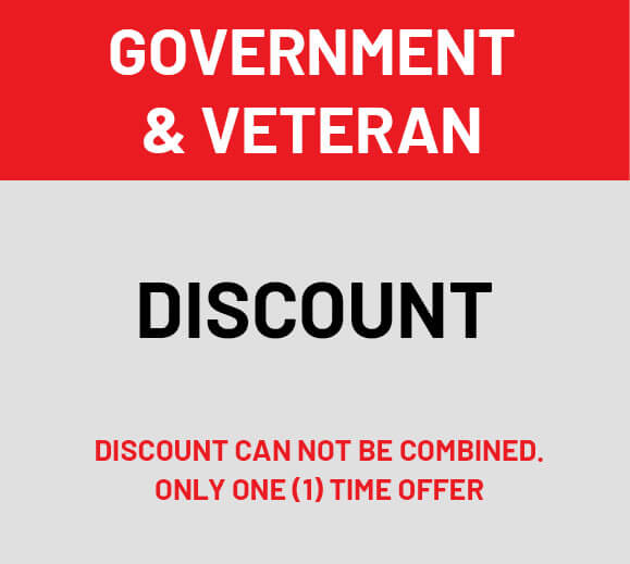 Veteran and Government Discount
