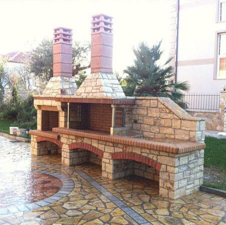 Outdoor Fireplace Installation Long Island